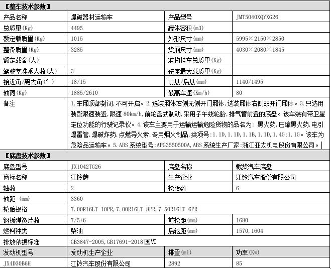 江铃国六爆破器材yabo2019vip